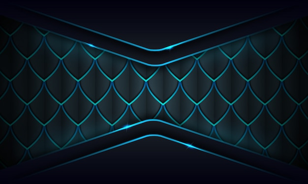 Moderne abstracte donkere achtergrond met gloed blauwe lijnen