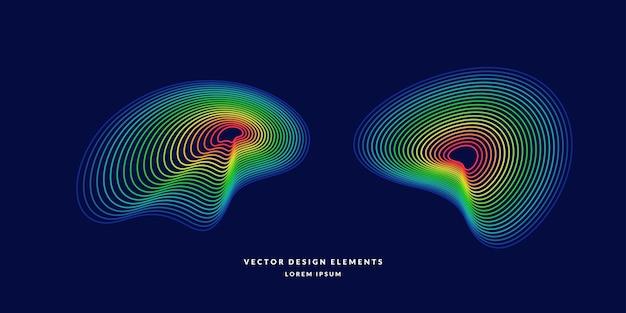 Moderne abstracte elemetnt met gekleurde lijnen