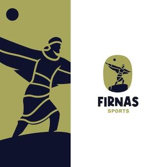 Moderne abstracte firnas flying logo-sjabloon