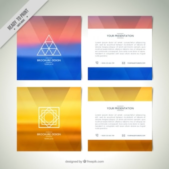 Moderne abstracte flyers