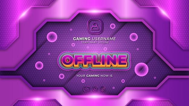 Moderne abstracte futuristische paarse gaming