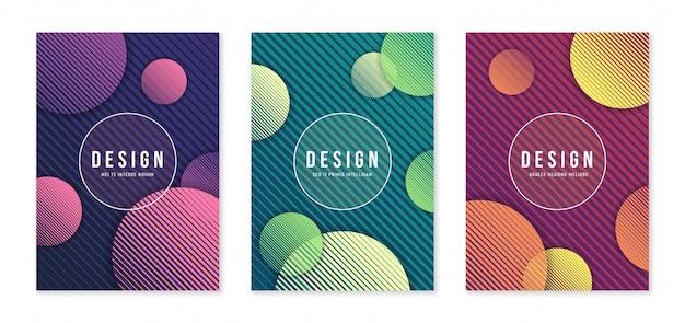 Moderne abstracte geometrische a4-formaat omslagontwerpen