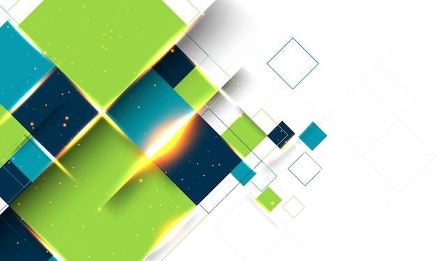 Moderne abstracte geometrische achtergrond met lens flare effect.