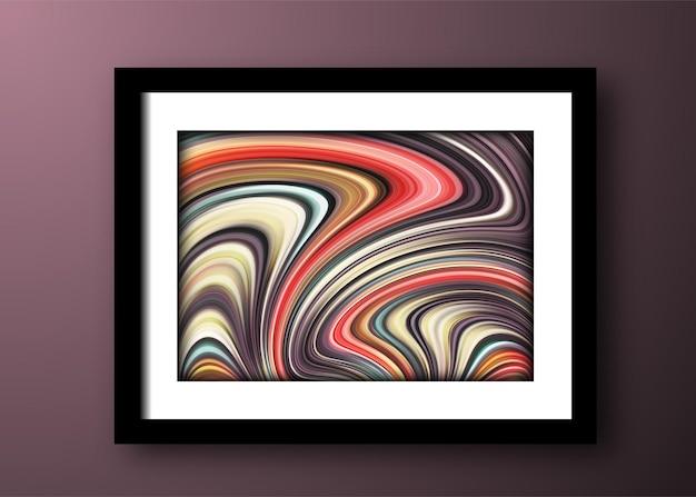 Moderne abstracte golvende achtergrond voor ontwerpbanner