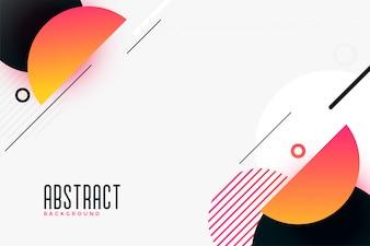 Moderne abstracte halve cirkelachtergrond