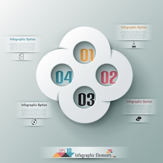 Moderne abstracte infographic optiebanner