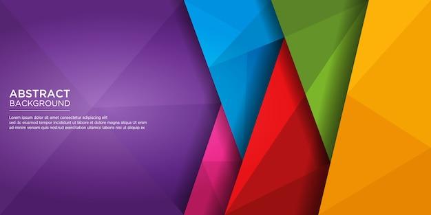 Moderne abstracte kleurrijke diamond shape achtergrond