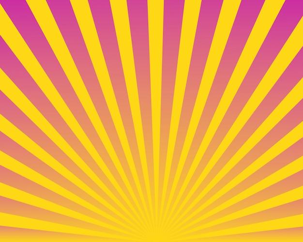 Moderne abstracte kleurrijke zonnestraalachtergrond