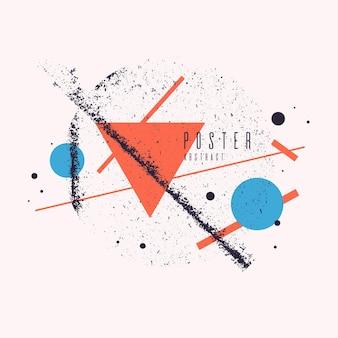 Moderne abstracte kunst geometrische achtergrond met platte, minimalistische stijl. vectorposter met elementen voor ontwerp