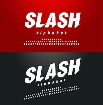 Moderne abstracte lettertype alfabetische cijfers set