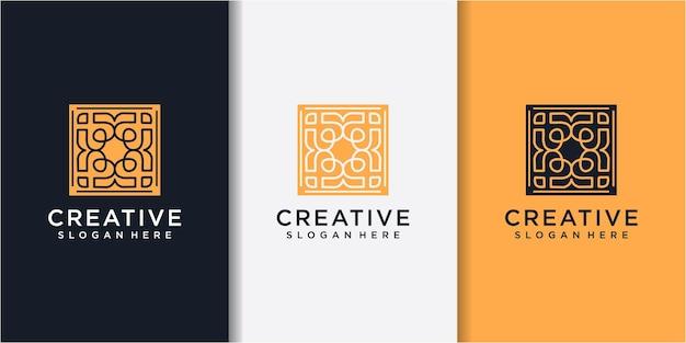Moderne abstracte liefde logo ontwerpconcept. abstracte liefde gemeenschap logo ontwerpsjabloon