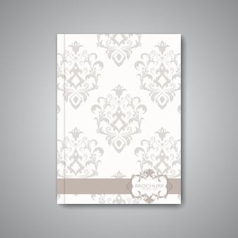 Moderne abstracte malplaatjelay-out voor brochure