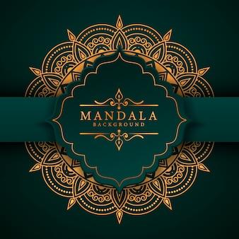 Moderne abstracte mandala achtergrond met gouden arabesque arabische islamitische oost-stijl