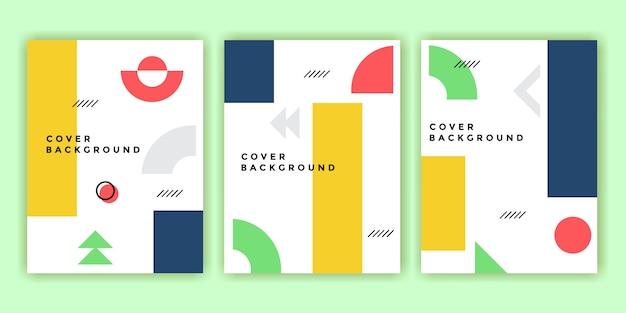 Moderne abstracte memphis cover set