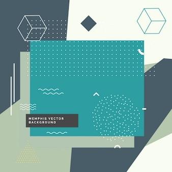 Moderne abstracte memphis stijl achtergrond