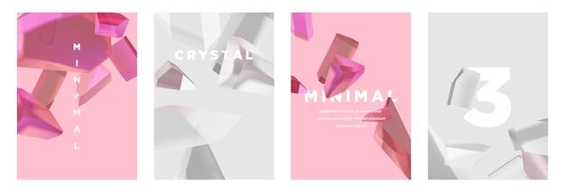 Moderne abstracte minimalistische omslagset