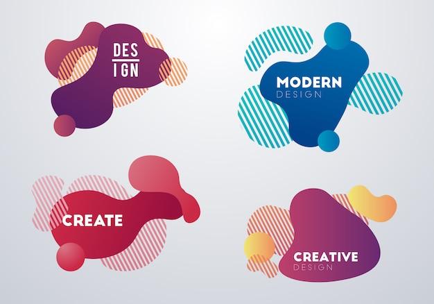 Moderne abstracte ontwerpachtergrond