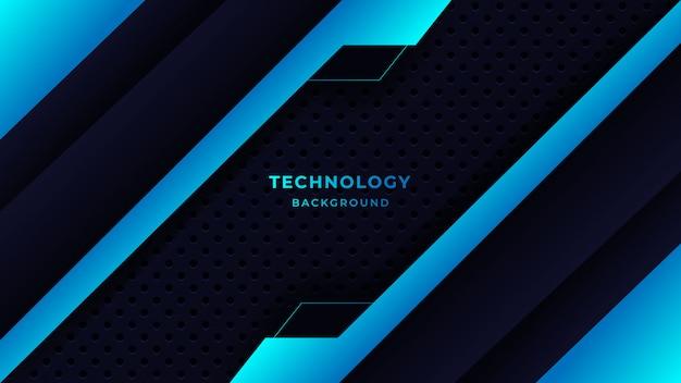 Moderne abstracte technische achtergrond met combinatie gloeiende blauwe stippen
