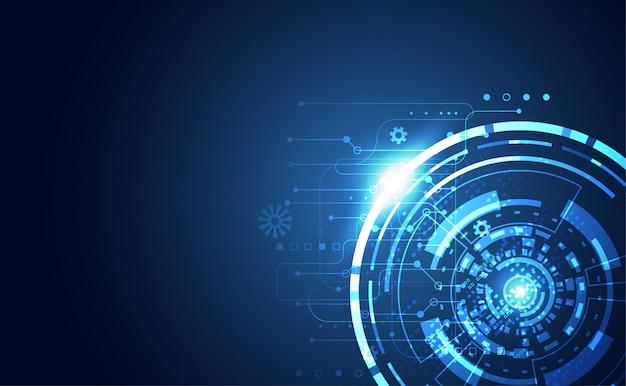 Moderne abstracte technologiecommunicatie digitale cirkel