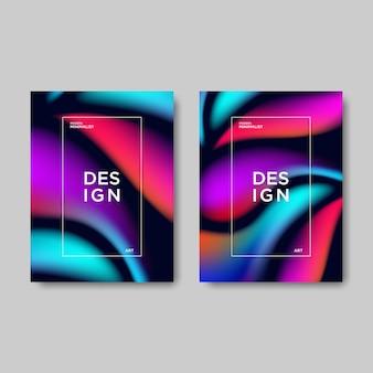 Moderne abstracte verloop boekomslag.