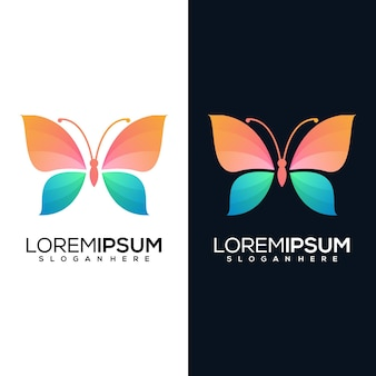 Moderne abstracte vlinder met versie twee