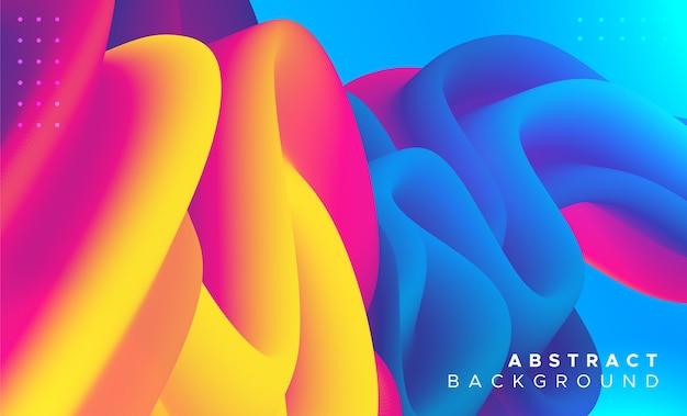 Moderne abstracte vloeibare achtergrond