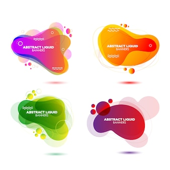 Moderne abstracte vloeibare vector banner set