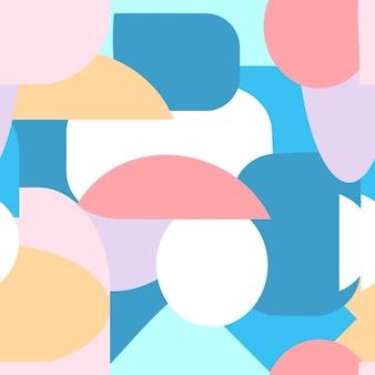 Moderne abstracte vormen naadloze patroon. creatieve geometrische vectorillustratie. hedendaagse geometrie achtergrond