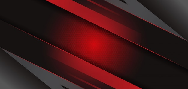 Moderne abstracte zwart rood sjabloon achtergrond