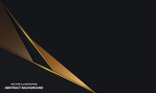 Moderne abstracte zwarte dop als achtergrond met gouden lijnenluxe
