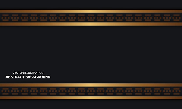 Moderne abstracte zwarte dop als achtergrond met gouden luxe