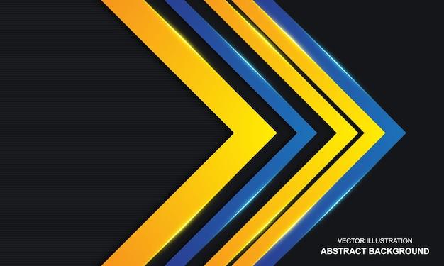 Moderne abstracte zwarte dop blauwe en gele luxeachtergrond