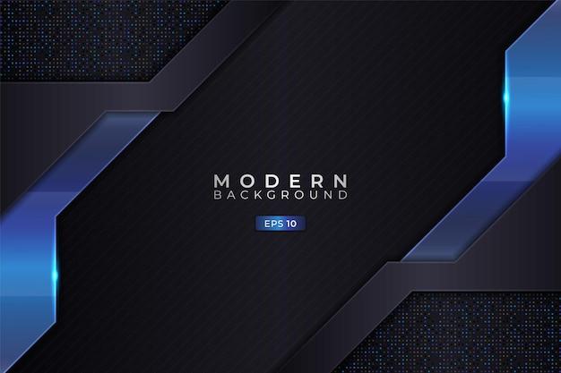 Moderne achtergrond 3d-realistische elegante diagonale overlappende gloeiende blauw met glitter