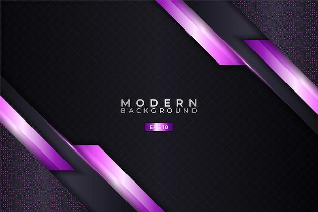 Moderne achtergrond 3d-realistische elegante diagonale overlapt glanzend paars met glitter