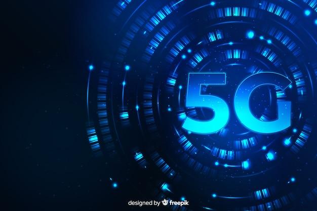 Moderne achtergrond 5g technologie