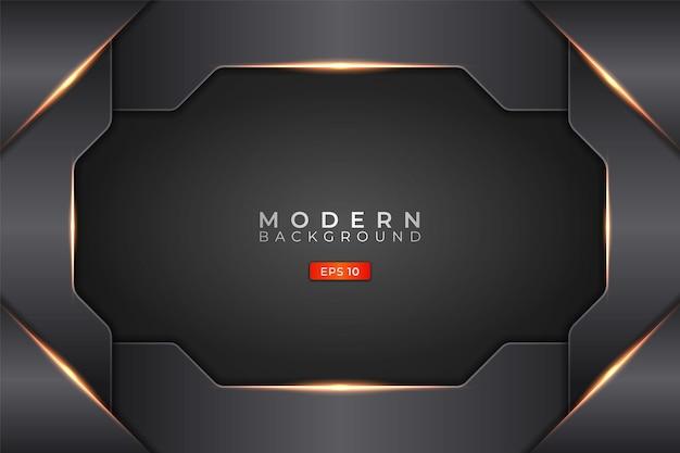 Moderne achtergrond futuristische technologie 3d elegant metallic glanzend oranje