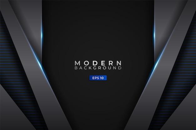 Moderne achtergrond futuristische technologie gloeiend blauw metallic