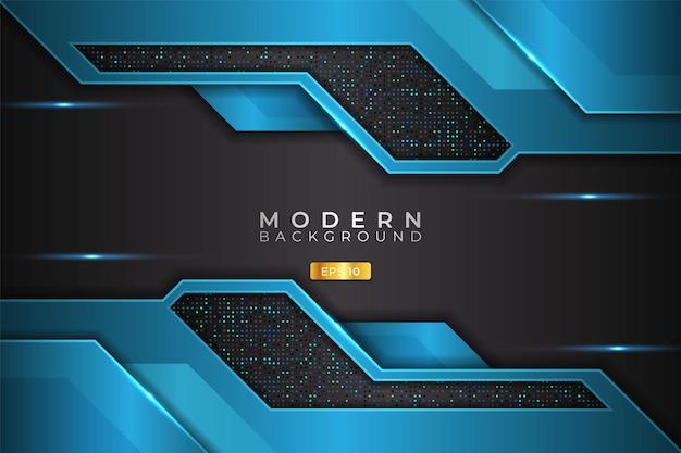 Moderne achtergrond futuristische technologie lichtblauw met glanzend zilver metallic