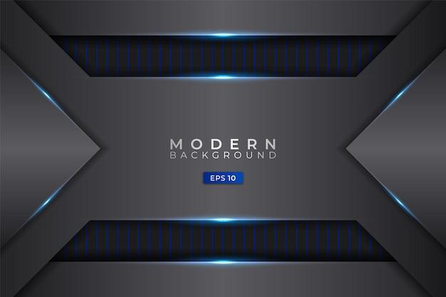 Moderne achtergrond futuristische technologie realistisch gloeiend blauw metallic