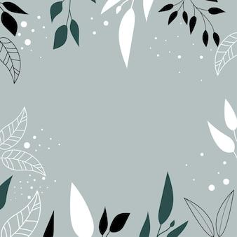 Moderne achtergrond met abstracte vormen en bladeren