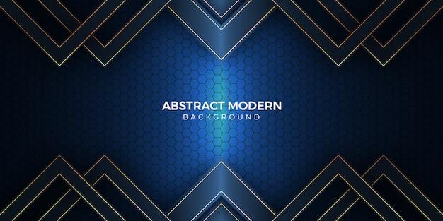 Moderne achtergrond met geometrische vorm in donker licht