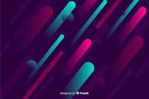 Moderne achtergrond met gradiënt dynamische vormen