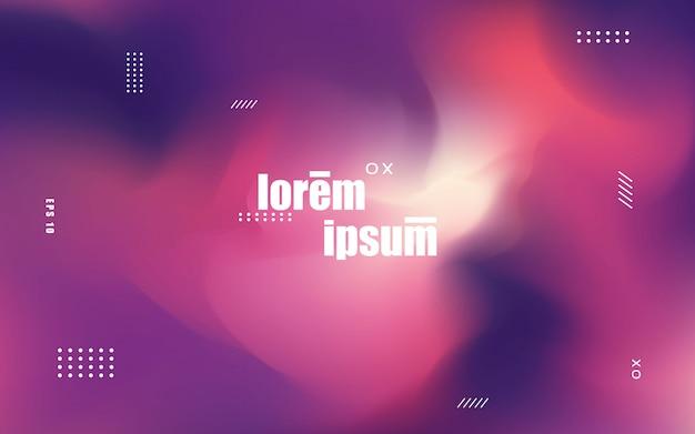 Moderne achtergrond met holografische stijl