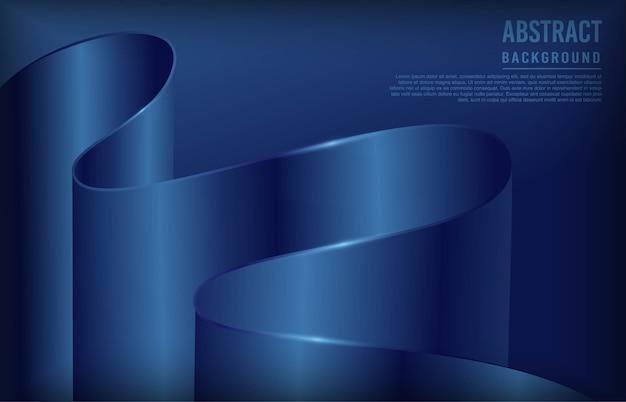 Moderne achtergrond met marineblauwe dynamische vorm