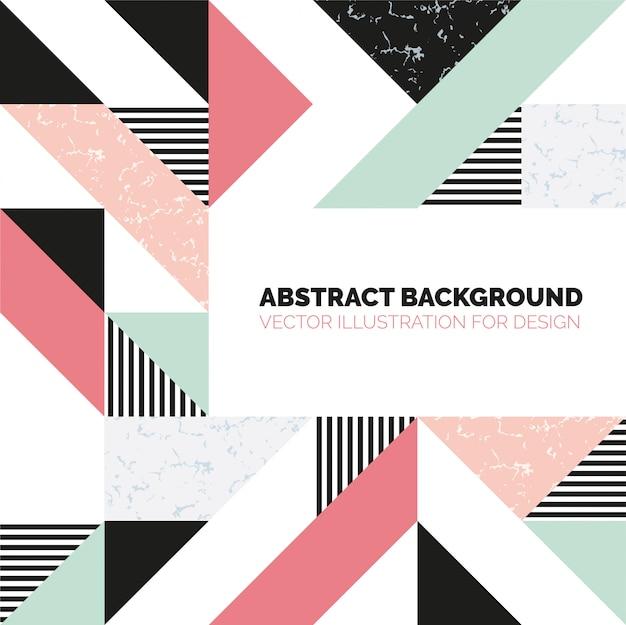 Moderne achtergrond met marmeren textuur en geometrische vormen. patroon van geometrische gekleurde vormen