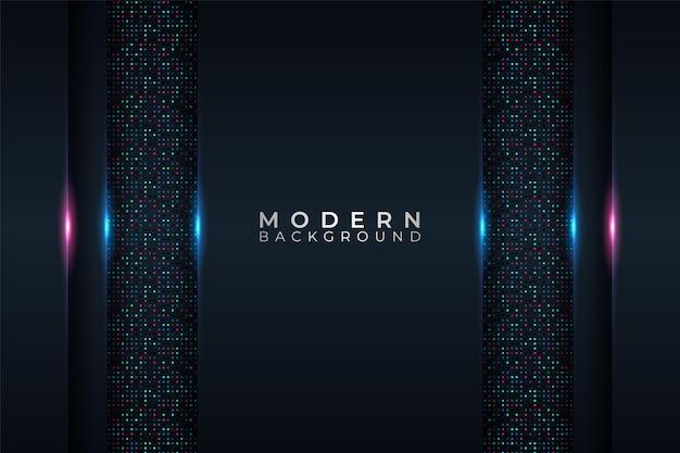 Moderne achtergrond minimalistisch futuristisch technologie kleurrijk glow neon met glittereffect