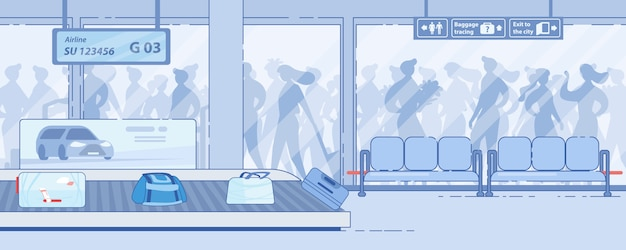 Moderne airport terminal aankomstdiensten