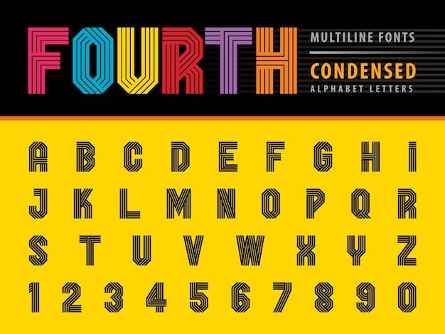 Moderne alfabetletters