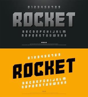 Moderne alfabetlettertypen en typografie