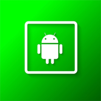 Moderne android-icoon achtergrond